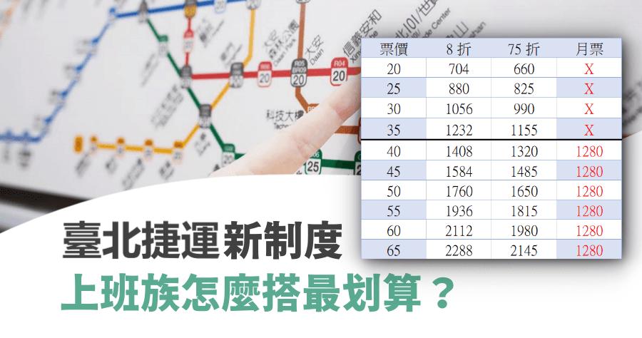 台北捷運優惠新制 2/1 開跑,每月進站 51 次以上打 7 折,怎麼搭更划算?