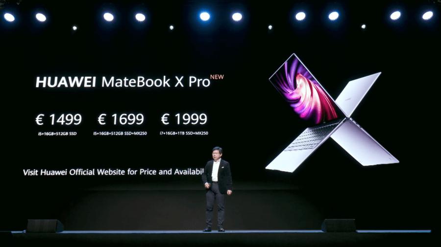 MateBook X Pro 2020處理器