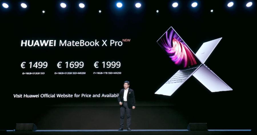 HUAWEI MateBook X Pro 2020 全新筆電,於巴塞隆納正式發布售價約台幣 4.9 萬元