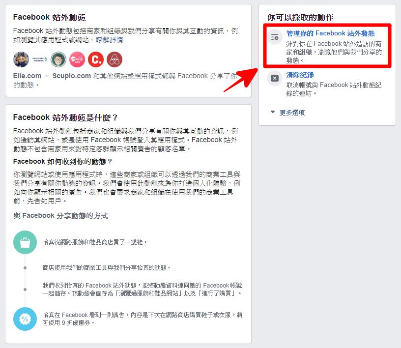 Facebook 站外動態