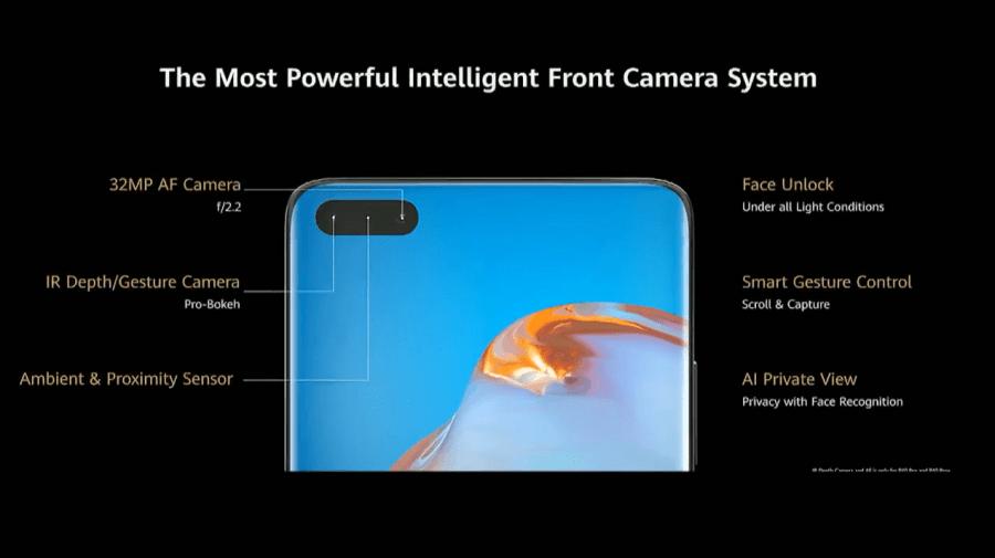P40 Pro 自拍鏡頭