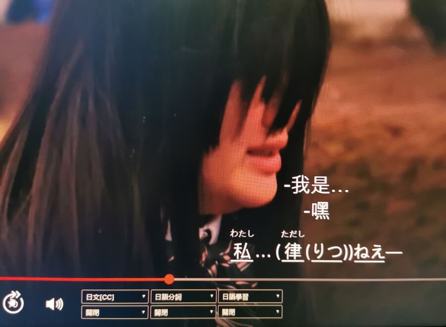 Netflix 日文字幕