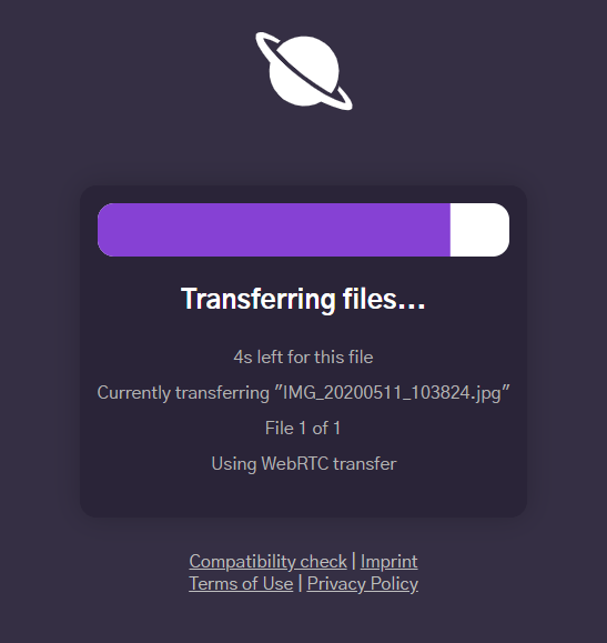 跨裝置檔案傳輸