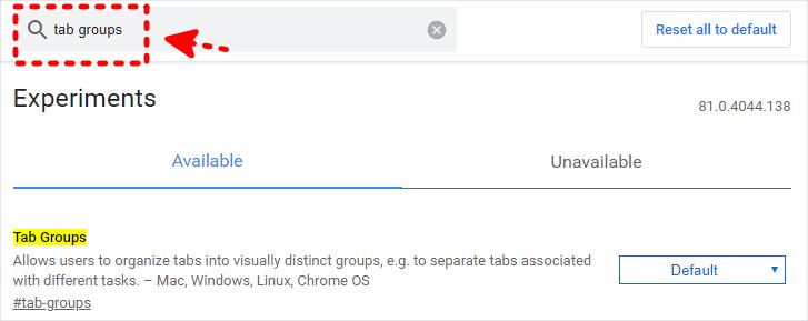 Chrome 分頁標籤