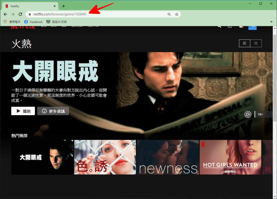 Netflix 隱藏版網址分類代碼