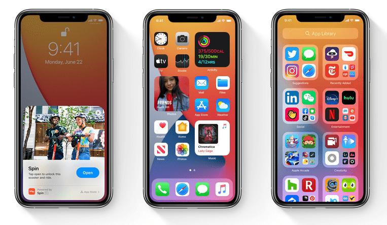 iOS 14 小工具主畫面