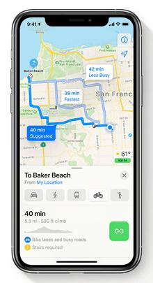 iOS 14 地圖