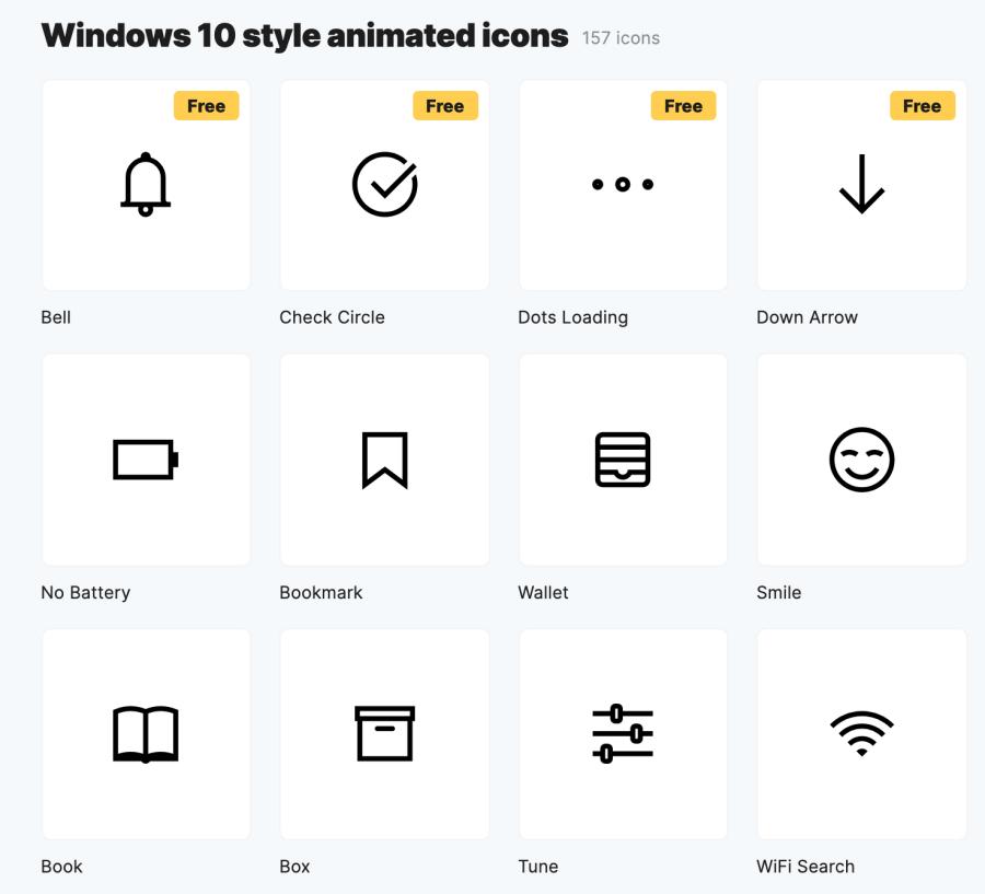 Windows 10 動態 icon 下載