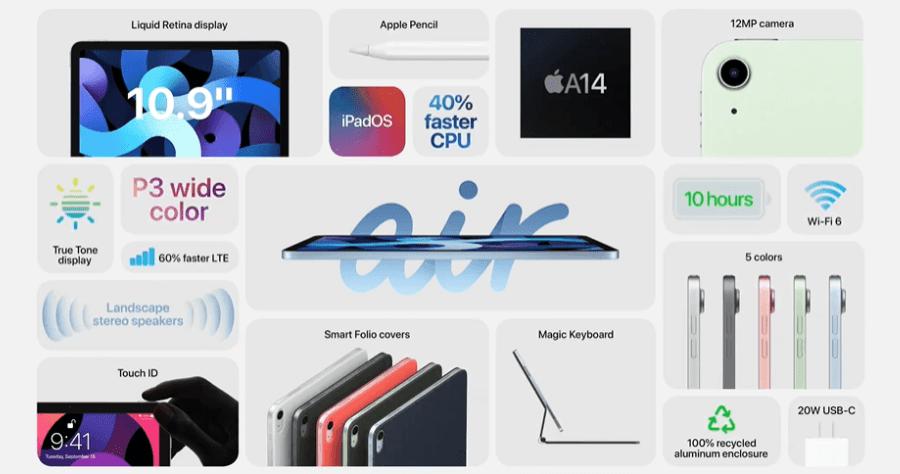 iPad 第八代 / iPad Air 兩款全新平板發表,5 奈米處理器 A14 現身,有可能是今年 iPhone 12 採用的處理器