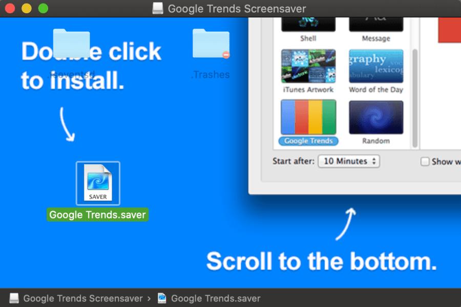 Google Trends 螢幕保護程式