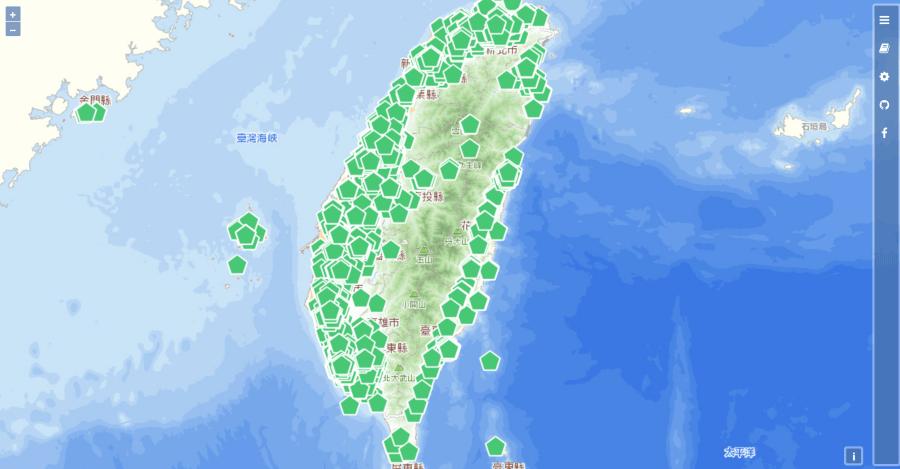 臺灣豬證明標章地圖