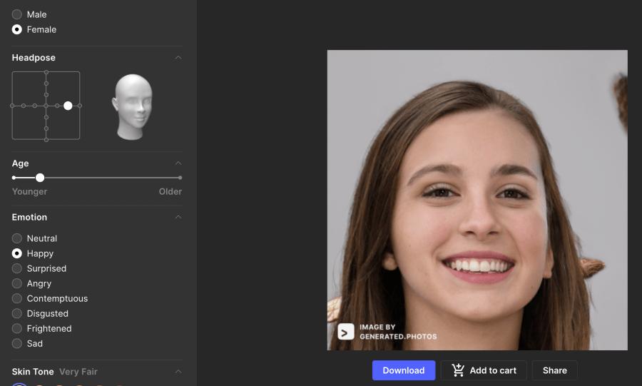 亞洲人臉產生器
