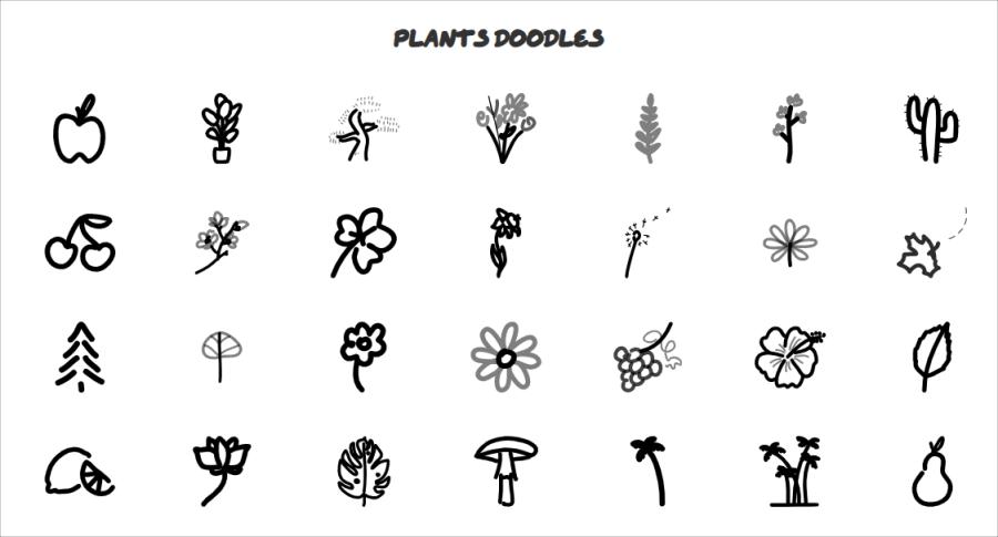 植物手繪圖片
