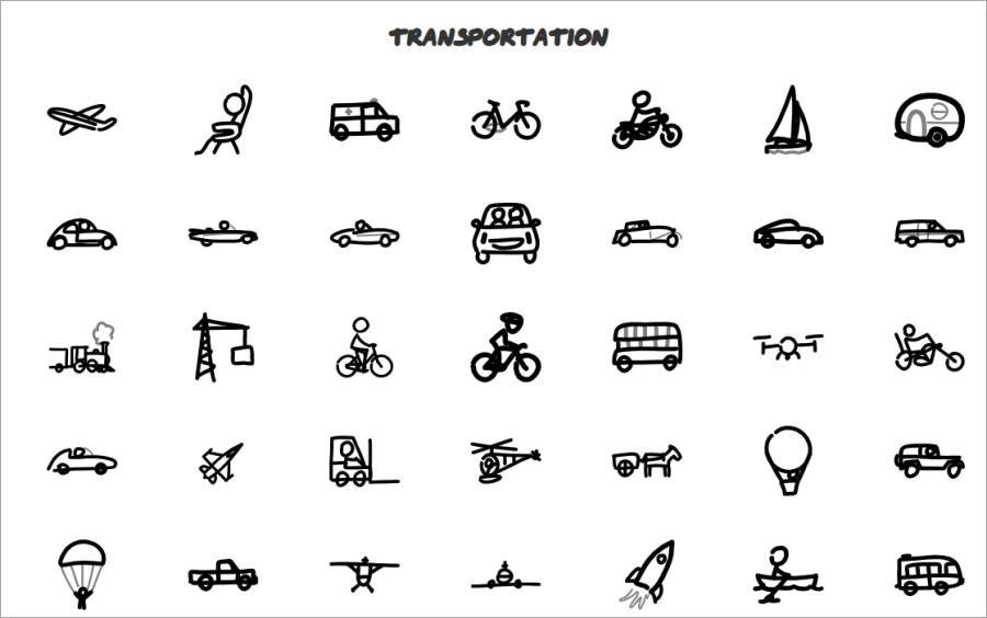 交通工具手繪圖片