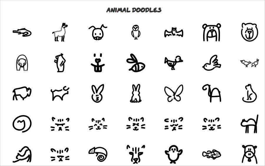 動物手繪圖片