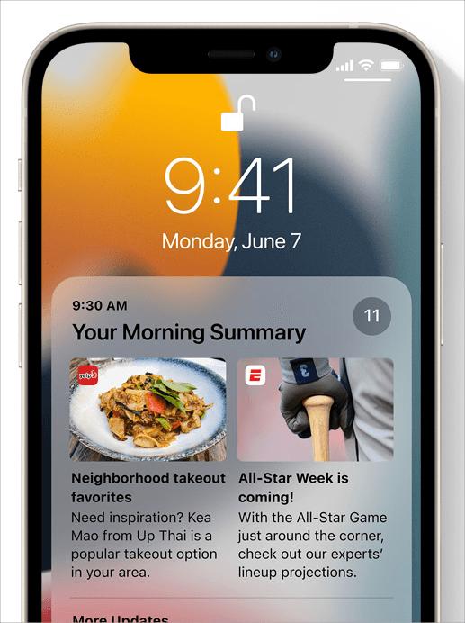 iOS 15 通知整合