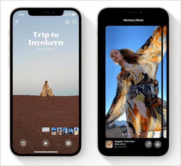 iOS 15 相片幻燈片