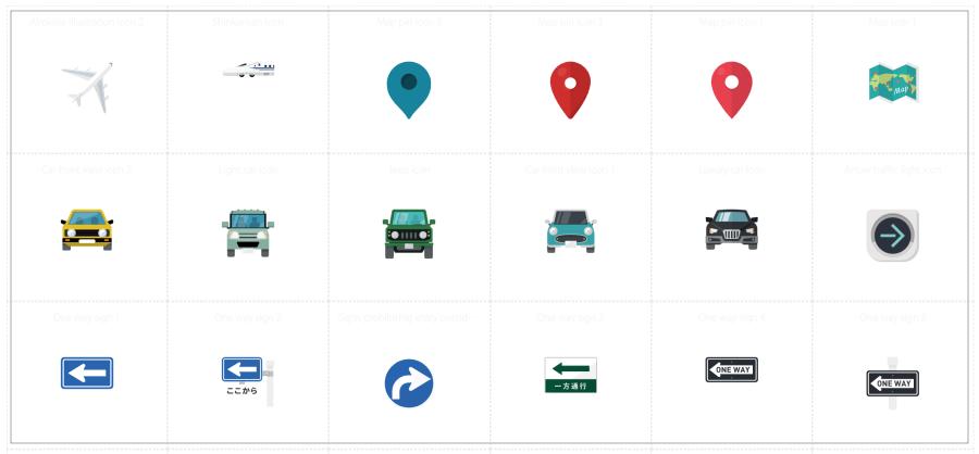交通工具及地圖 icon