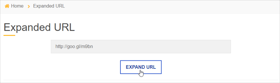 Expand URL