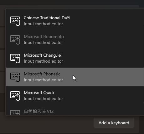 Windows 11 注音輸入法 無法使用